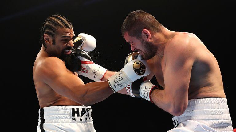 David Haye put Arnold Gjergjaj down in both rounds