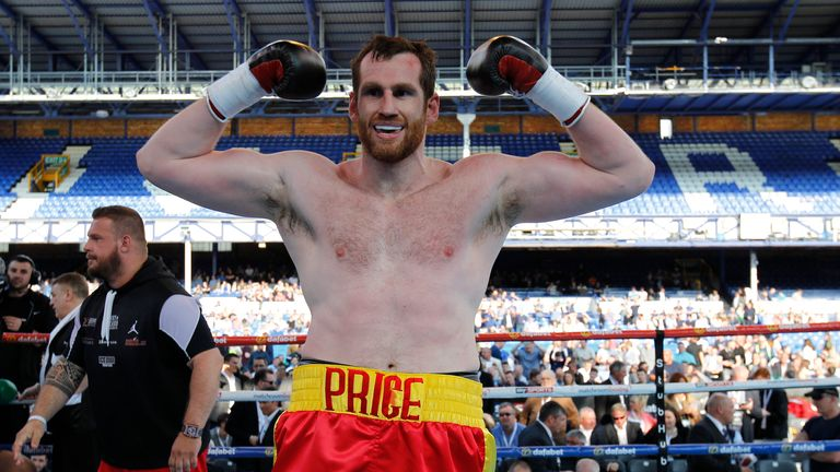 David Price celebrates a triumphant evening