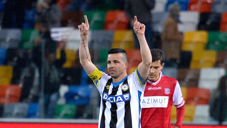Antonio Di Natale bowed out against Carpi