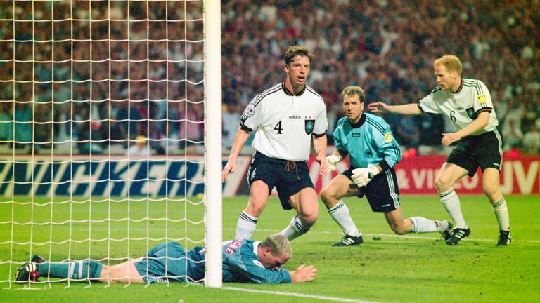 Gascoigne was inches away from scoring a Golden Goal against Germany