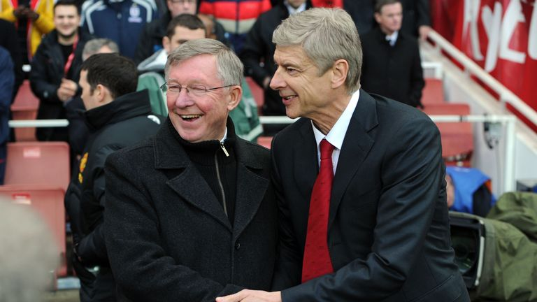 Sir Alex Ferguson and Arsene Wenger were great rivals