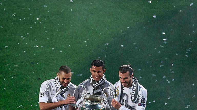 Benzema and Ronaldo won a record three consecutive Champions League titles