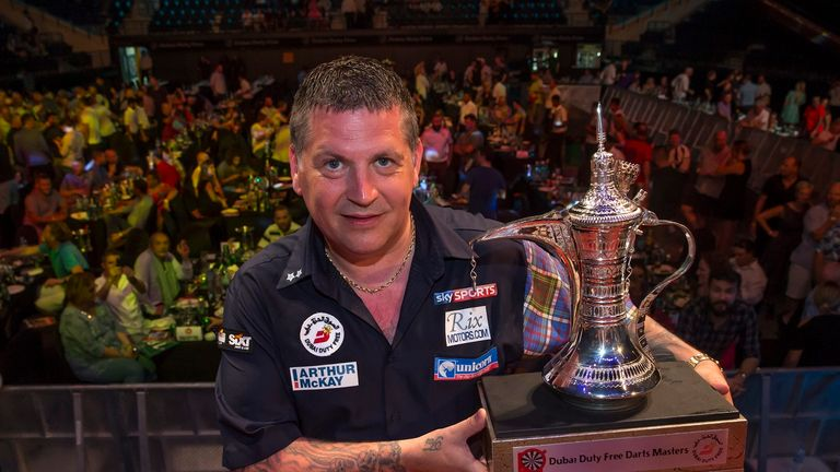 Gary Anderson claimed the Dubai Darts Masters title