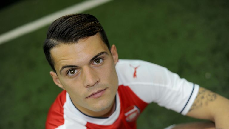 Granit Xhaka has joined Arsenal on a long-term contract