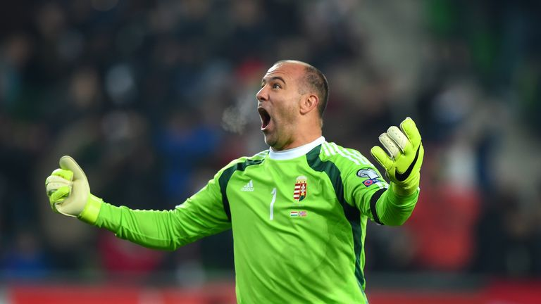 Hungary goalkeeper Gabor Kiraly