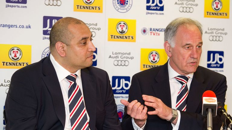 Imran Ahmad (left) and Charles Green (right) are two of the men Rangers have launched legal proceedings against
