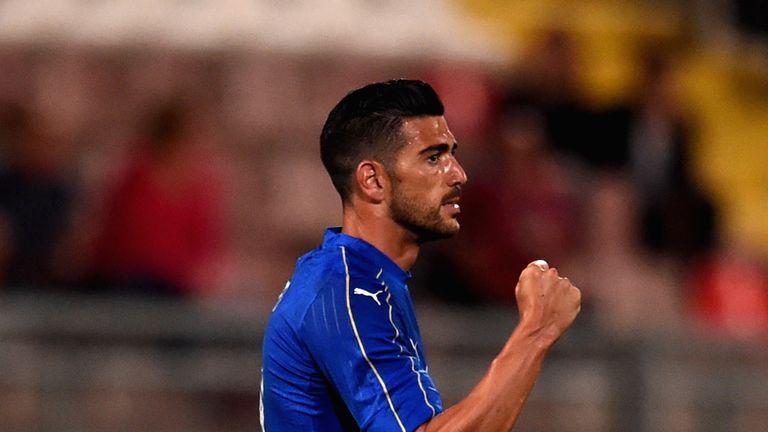 Graziano Pelle celebrates his goal against Scotland