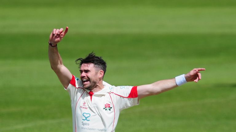 James Anderson is back in action for Lancashire this week