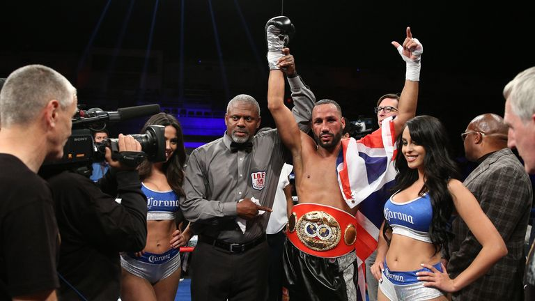 James DeGale celebrates after retaining his IBF super-middleweight belt
