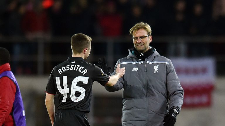 Rossiter appeared for Liverpool in the Europa League this season against FC Sion