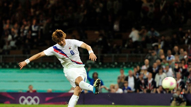 Ki Sung-yeung scored the winning penalty in the shoot-out against Great Britain in the quarter-finals at London 2012