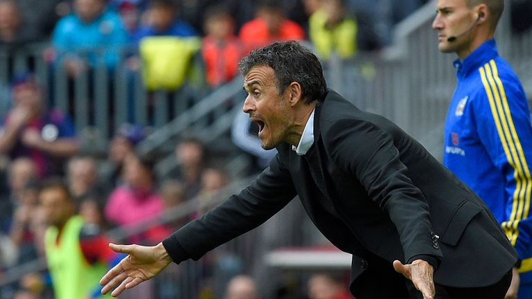 Luis Enrique praised his side after their earned a narrow win