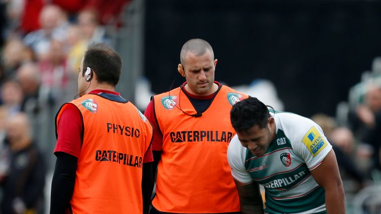 Tuilagi was injured in the first half at Allianz Park
