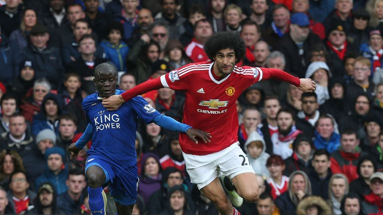 Fellaini started his 12th Premier League game of the season versus Leicester