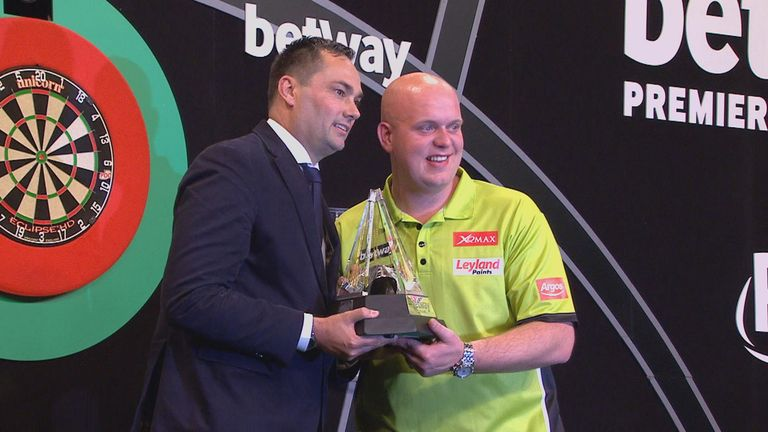 Van Gerwen claimed his second Premier League title with a dominant victory over Taylor