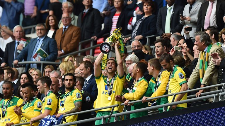 Norwich won promotion to the top flight last season via the play-off final