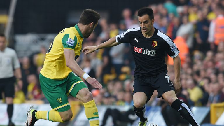 Jose Manuel Jurado (right) in action for Watford