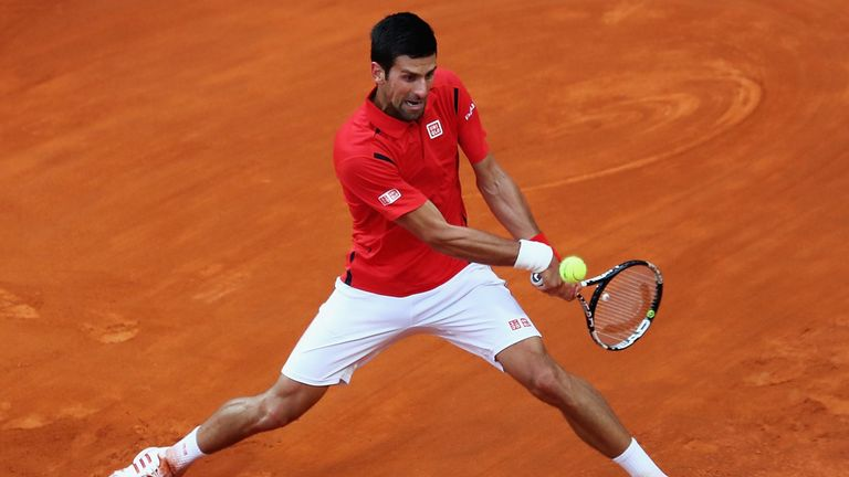Novak Djokovic complained about the wet weather