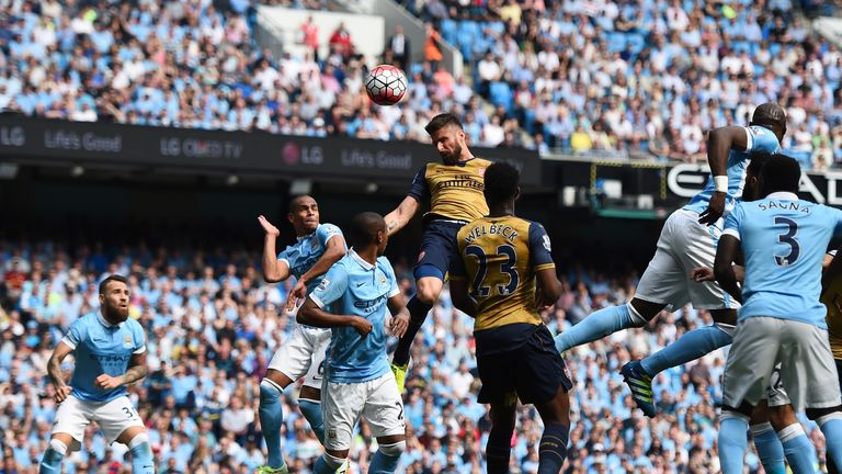 Olivier Giroud scored in Arsenal's 2-2 draw with Manchester City
