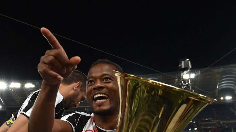 Evra enjoyed success at Juventus late in his career, winning two league titles and two Italian cups
