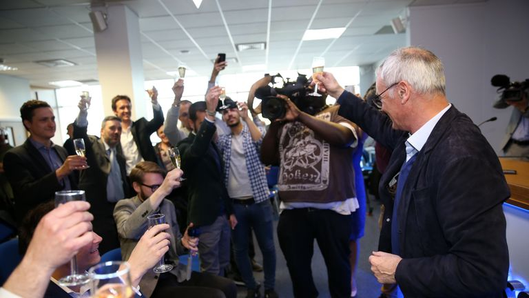 Claudio Ranieri has proved highly popular with the press during Leicester's title-winning season
