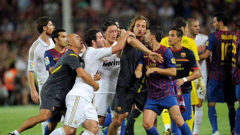 Tempers flare during the Spanish Super Cup