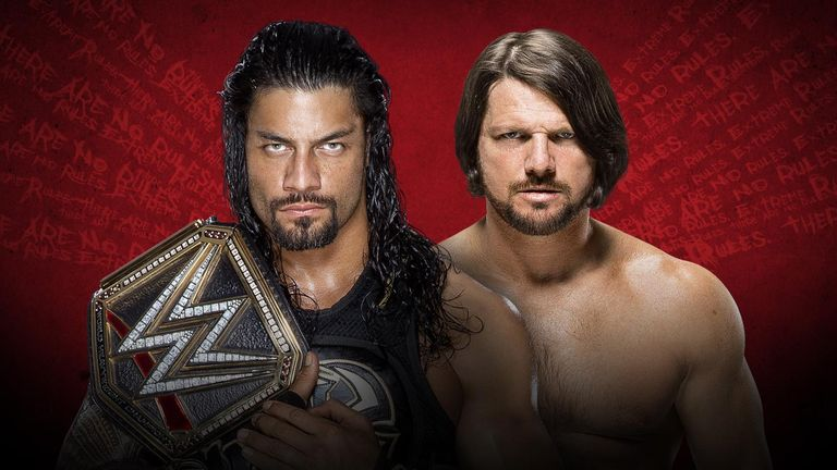 Roman Reigns will defend his WWE World Heavyweight Championship title AJ Styles at Extreme Rules