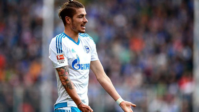 Roman Neustadter, in action for Schalke, was a late call-up for Russia at Euro 2016