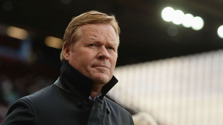 Ronald Koeman is favourite to take over at Everton this summer