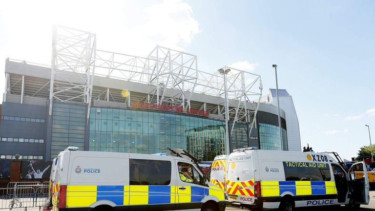 Manchester United's stadium was evacuated after a suspicious device was found