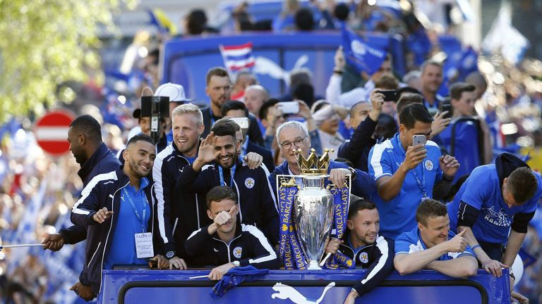 Leicester won the Premier League for the first time in 2016