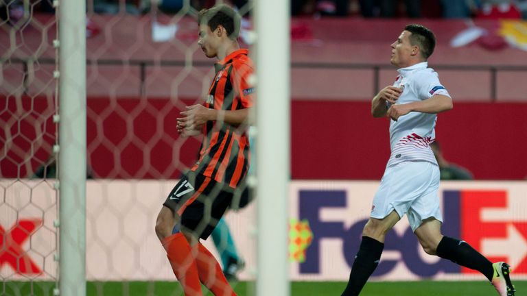 Kevin Gameiro celebrates after opening the scoring