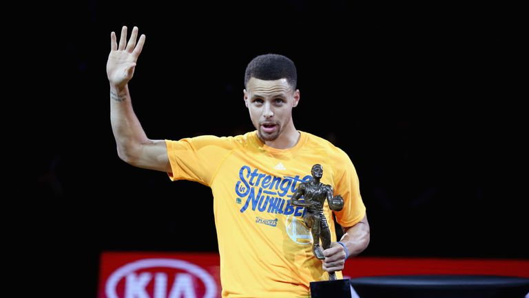 Basketball star Stephen Curry is the NBA's MVP