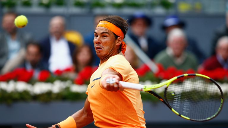Nadal struggled to take his break point chances in the match
