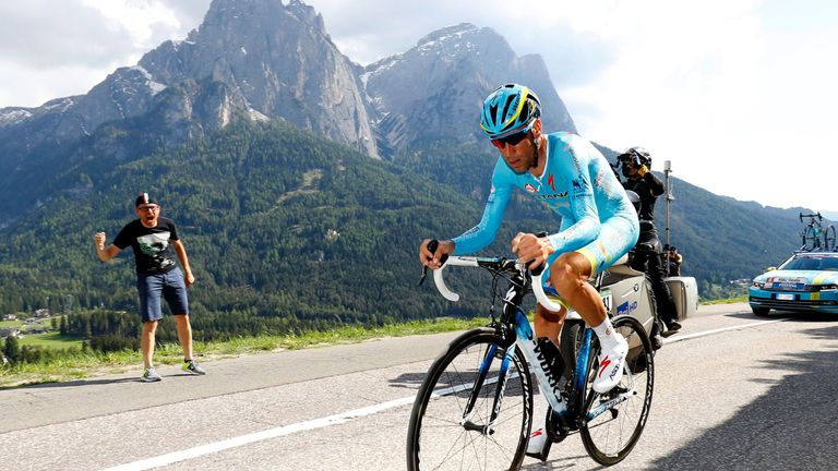 Vincenzo Nibali suffered a disastrous time trial