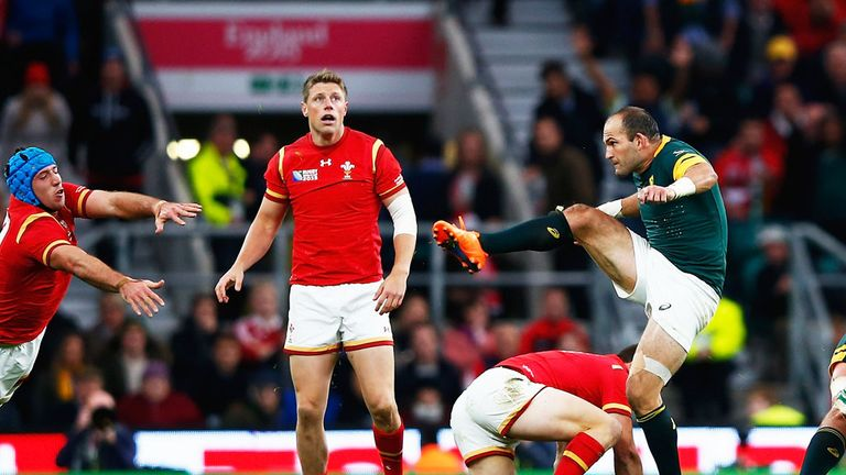 Wales and South Africa in action in the quarter-finals of the Rugby World Cup