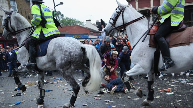 The build-up to the last match at the Boleyn Ground was marred by some fans' behaviour