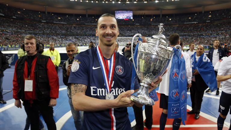 Ibrahimovic signed off from PSG after winning the French Cup