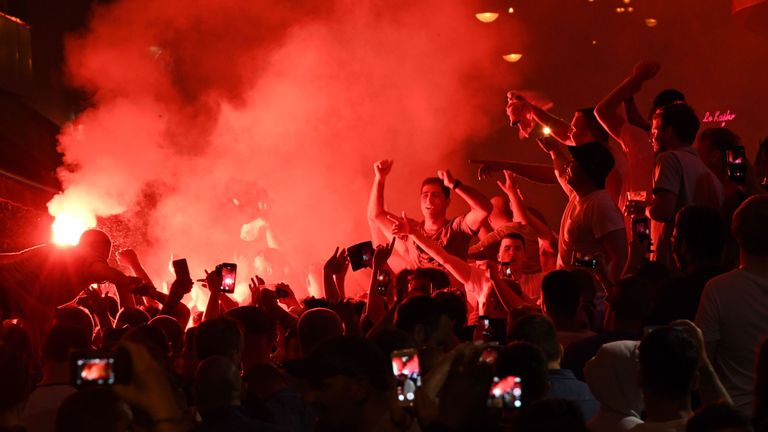 Fan violence occurred inside and outside the ground