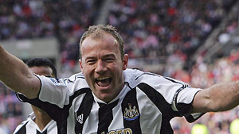 Alan Shearer scored 206 goals in 404 appearances for Newcastle