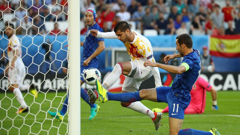 Alvaro Morata scored Spain's opener after seven minutes