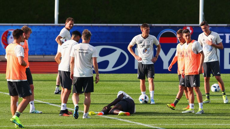 Rudiger was injured during training
