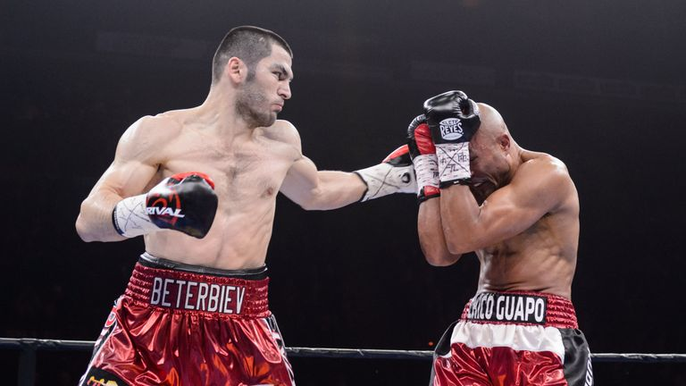 Artur Beterbiev (L) has stopped everyone he has fought so far in the pro game