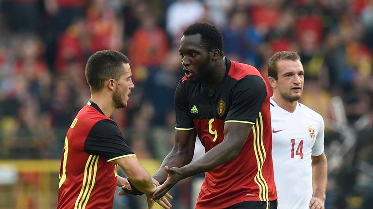 Eden Hazard and Romelu Lukaku were both among the goals for Belgium against Norway