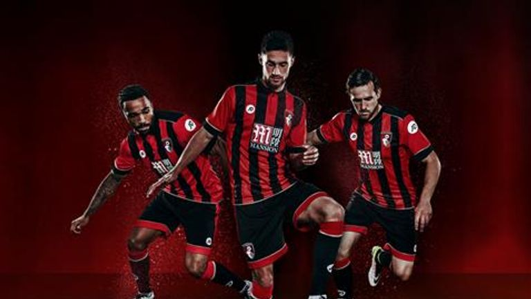 Bournemouth's new kit for 2016/17 dons the usual red and black vertical stripes