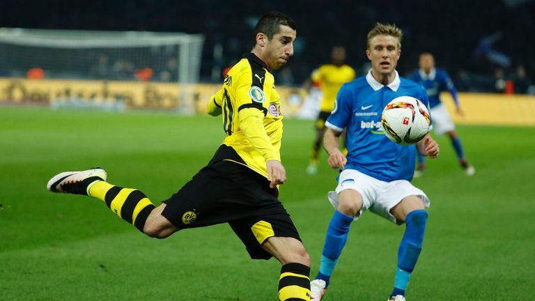 Mkhitaryan in action for Borussia Dortmund