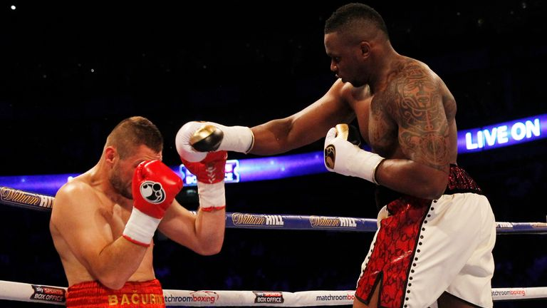 Dillian Whyte stopped Ivica Bacurin in round six at The 02