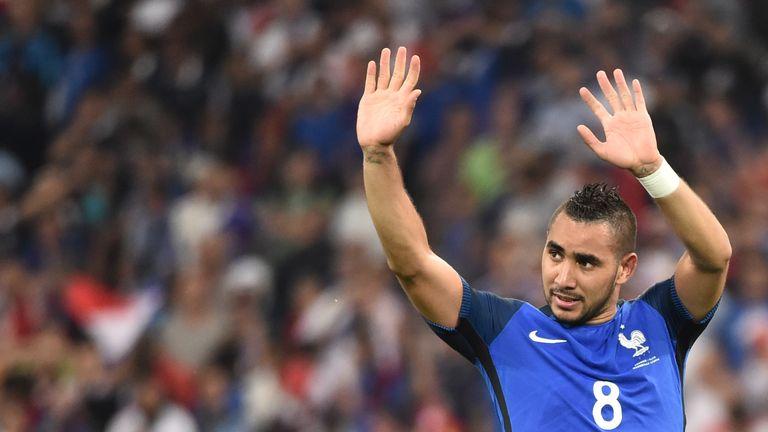 Dimitri Payet celebrates after France's victory