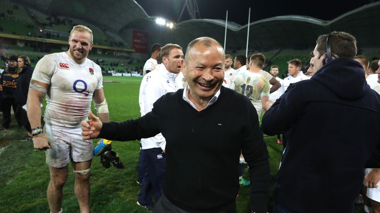 Jones led England to a 3-0 series win in Australia in 2016