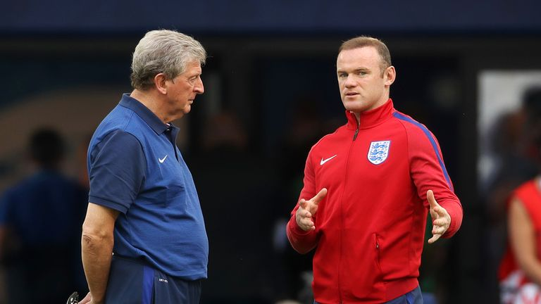 Hodgson and Wayne Rooney during their time together with England